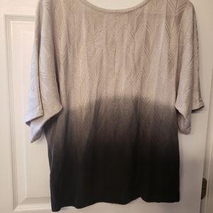 NY Collection Sweaters - NY Collection Ombre Grey/Black Sweater - Size XL
